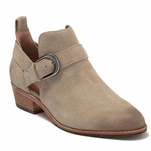 Frye Mia Cutout Bootie NEW Size 6M Taupe Suede
